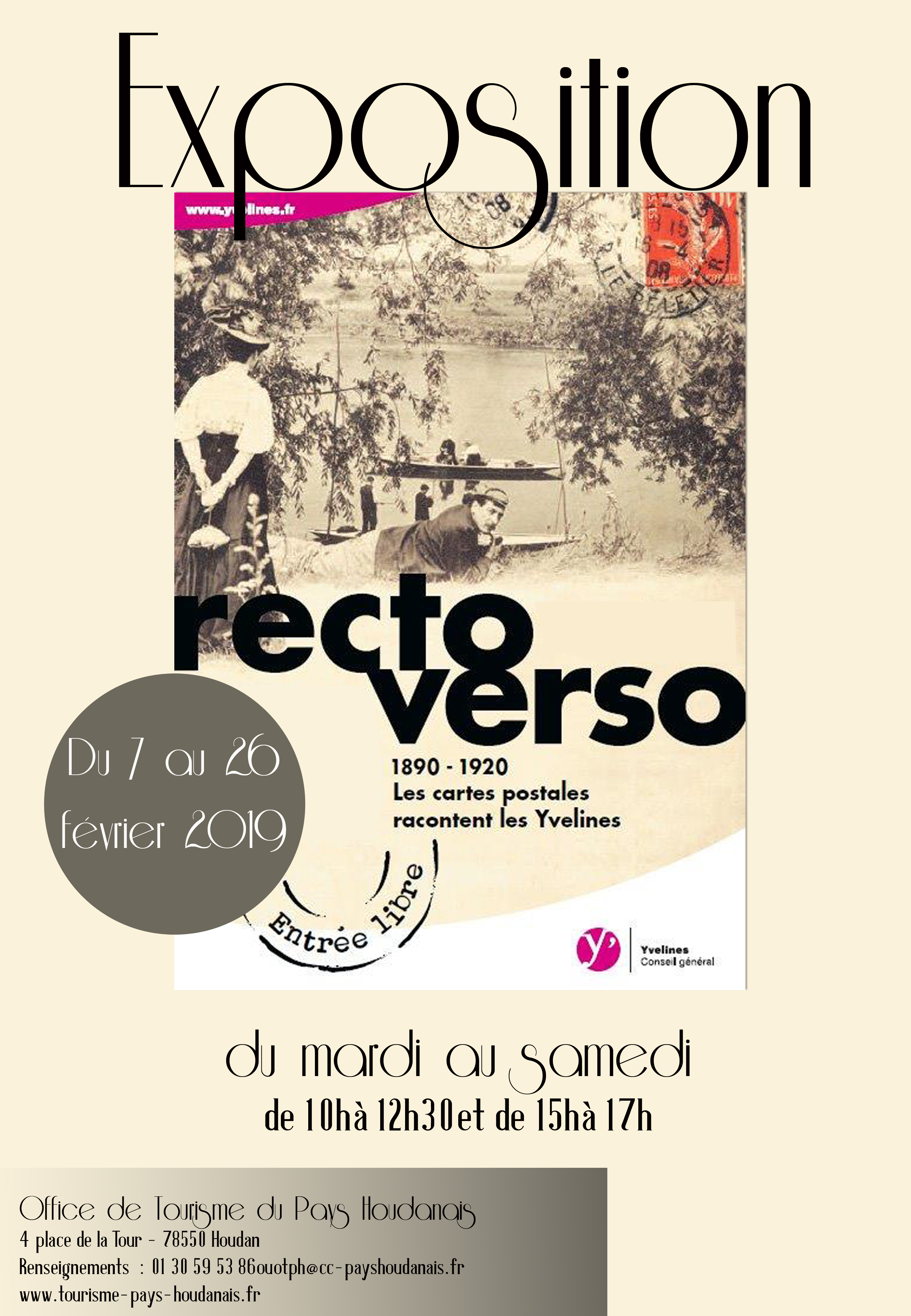 "EXHIBITION ""RECTO VERSO"" AT THE TOURIST OFFICE, HOUDAN"